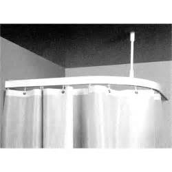 zone hardware 1 x 1m shower curtain corner bend track