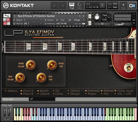 best electric guitar vst kvr ilya efimov releases lp electric guitar for kontakt