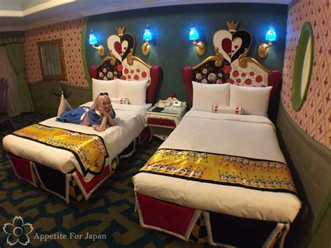 alice in wonderland themed bedroom inside tokyo disneyland hotel s alice in wonderland themed