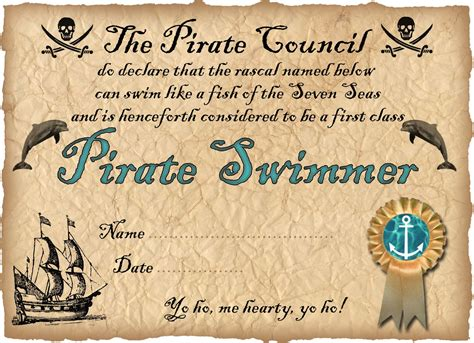 pirate swimmer certificate rooftop post printables