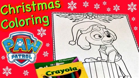 Free Paw Patrol Christmas Coloring Pagesll