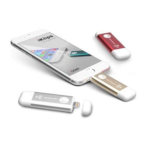 Adam Elements Iklips Flash Drive For Iphone And 16 Gb Silver adam elements iklips 128gb dual interface flash drive for