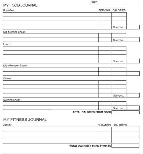 printable food journal builtlean 11 free sle food log templates printable sles