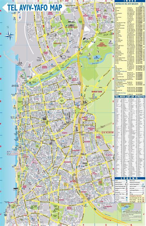 tel aviv map map of tel aviv maps about israel