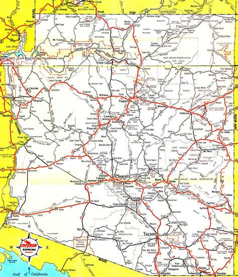 map world az az map roads