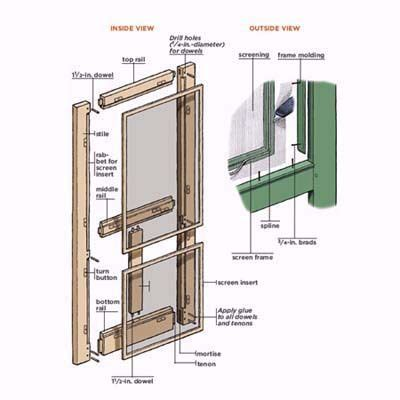 how to build a wood with doors how to build a screen door screens doors and choices