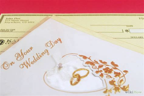 Wedding Gift Or Check by How To Write A Check As A Wedding Gift 4 Steps With
