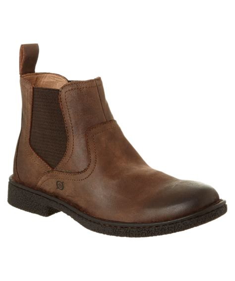 born s aiden leather chelsea boot in brown for lyst