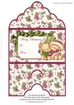 mistletoe kiss christmas money wallet envelope cup