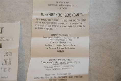 image gallery moneygram receipt