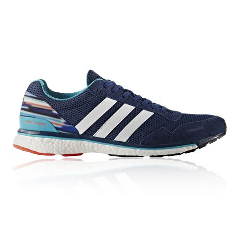 adidas adizero adios  mens blue cushioned running sports shoes trainers ebay