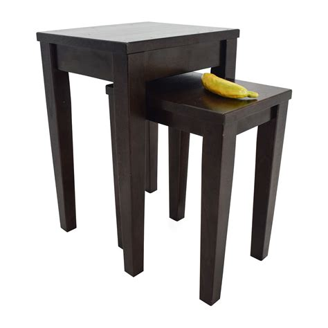 crate and barrel table 72 crate and barrel crate barrel nesting tables