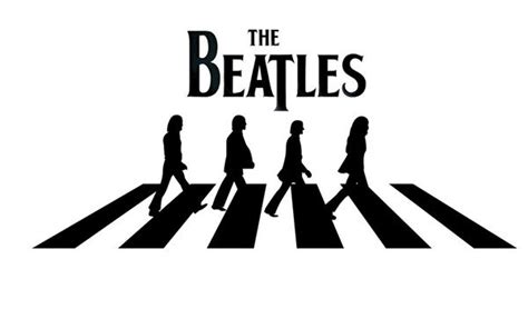 Kaos The Beatles Logo Stencil the beatles road stencil www imgkid the