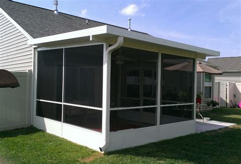 woods screen house with awnings aluminum awnings bunce buildings
