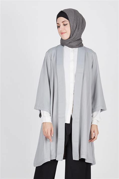 Outer Kimono by Sell Molly Kimono Outer Grey Outerwear Hijabenka