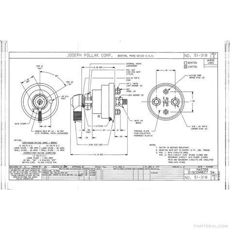 pollak marine ignition switch wiring diagram 44 wiring