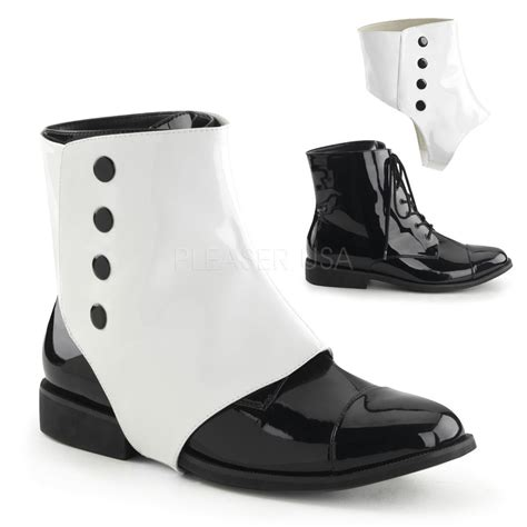 costume shoes for dap06 b w mens edwardian dandy spats marching
