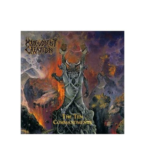 Cd Malevolent Creation The Ten rock tipo the ten commandments malevolent creation