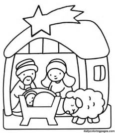 nativity coloring pages getcoloringpages