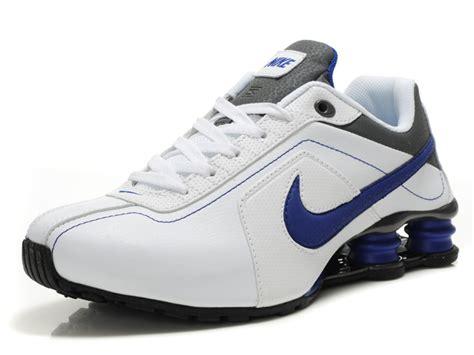 nike shox r4 mens running shoes genuinely genuine r4 blue silver white nike mens shox