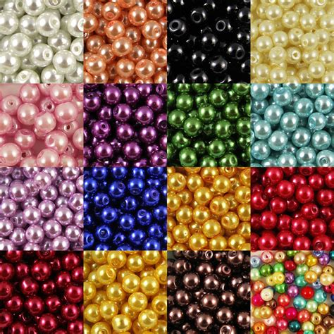 bead for glass pearl 400x4mm 200x6mm 100x8mm 50x10mm