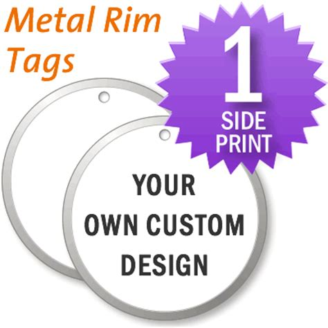 Create Your Own Custom Metal - 1 sided custom metal tag design your own tags sku