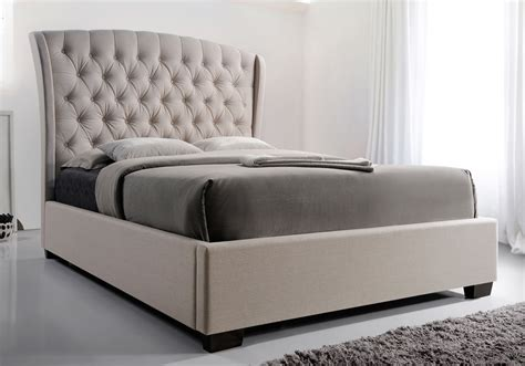 kaitlyn romantic queen king bed wingback tufted curve