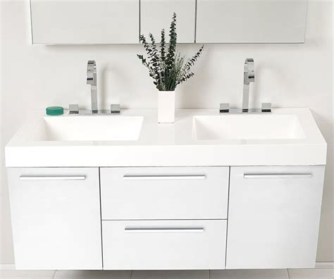 white modern bathroom vanity fresca opulento 54 quot white modern sink bathroom