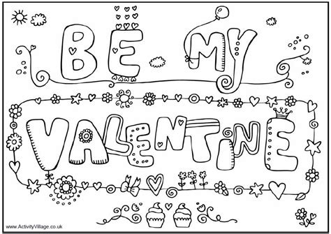 coloring pages for valentines day be my valentines coloring pages