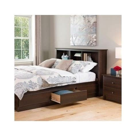 Bedroom Furniture Headboards Size Wood Bookcase Headboard Storage Shelves