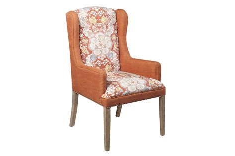 Rust Accent Chair by Surya Floral Rust Accent Chair