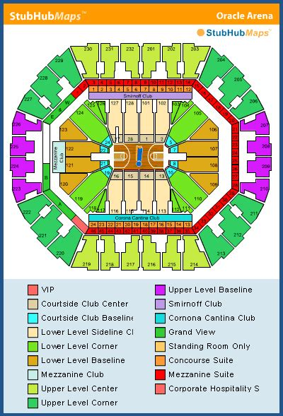 oracle arena warriors seating chart oracle arena seating chart pictures directions and