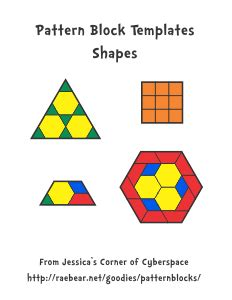 shape using pattern blocks jessica s pattern block templates for educational use