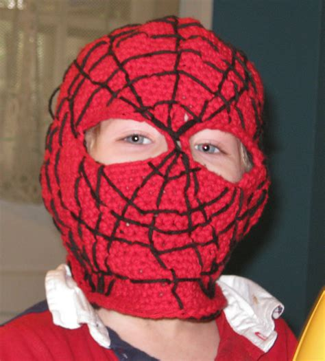pattern spiderman mask crochet pattern spider man mask balaclava hood face mask