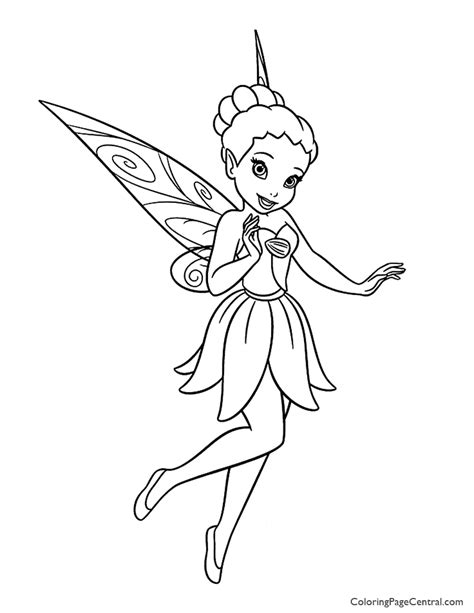 tinkerbell iridessa 01 coloring page coloring page central