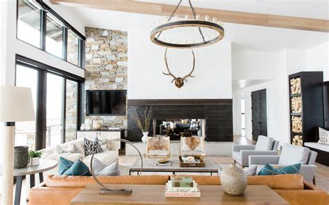 modern mountain home tour rustic modern decorating