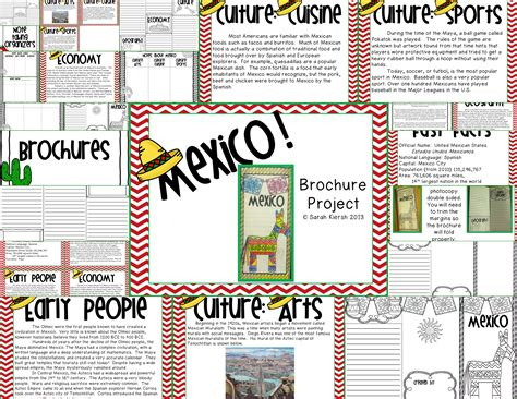 Cinco De Mayo Mexico Brochure Project For Upper Elementary Tpt Social Studies Lessons Mexico Brochure Template