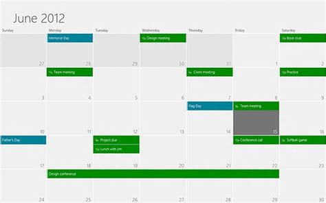 What Calendar Is On Windows 8 Microsoft Details Windows 8 Calendar App Design Wants To