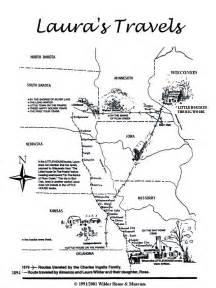 poster laura s travel map laura ingalls wilder historic