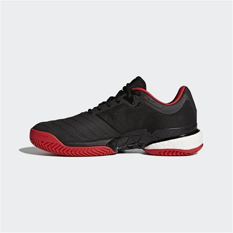 adidas mens barricade boost  tennis shoes core black