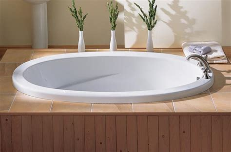 Robern Bathroom The Fixture Gallery Oceania Rose 65 Oval Drop In Bathtub