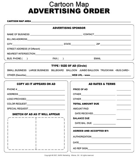Free Printable Sponsor Form Template Doc 12811656 New Customer Account Form Template Doc Advertising Order Form Template