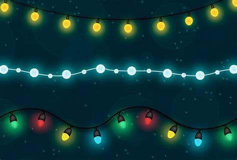 shiny christmas light free vector set creative nerds