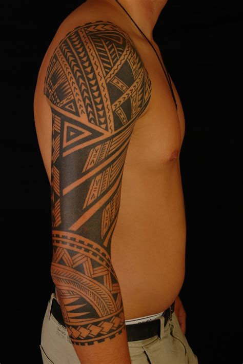 thick tribal arm tattoos aztec tribal sleeve tattoos ideas