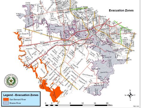 houston evacuation map updated brazos river has crested at richmond county