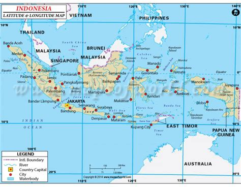 Places To Buy Home Decor by Indonesia Latitude And Longitude Map