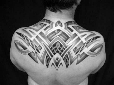 upper back tattoos for men 60 tribal back tattoos for bold masculine designs