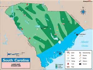 carolina resources map south carolina land use map by maps from maps