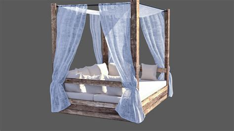balinese bed balinese bed pallets editable 3d max