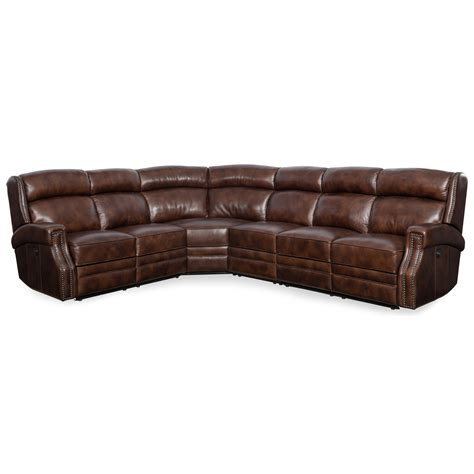 nailhead trim sectional sofa hooker furniture carlisle ss460 ps 188 power reclining